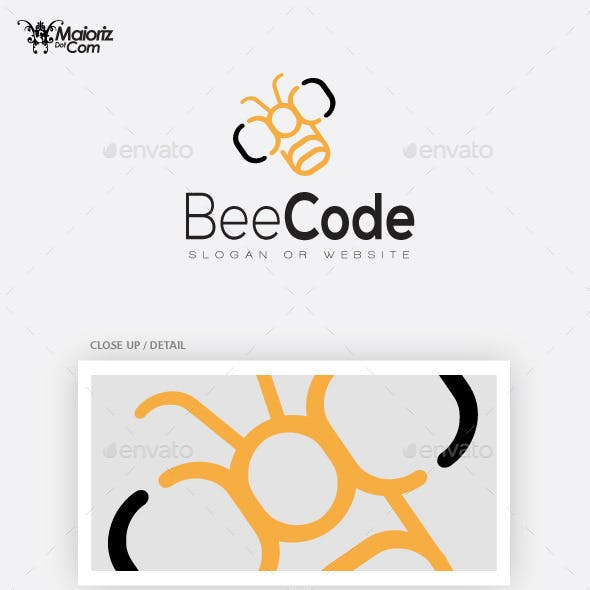 Bee Code Logo Template