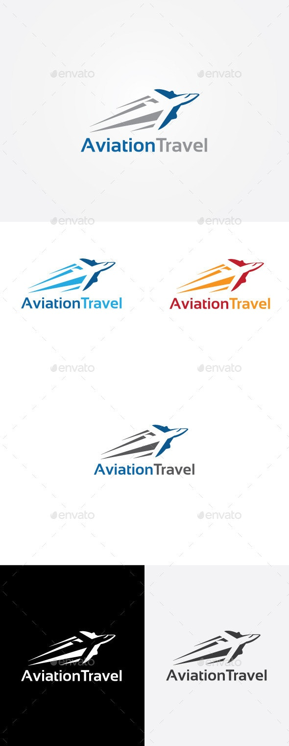 Air Travel Transport Logo - Objects Logo Templates