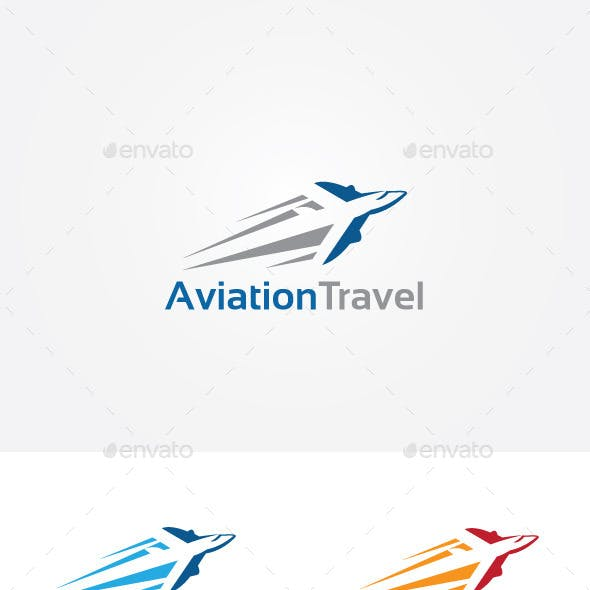 Air Travel Transport Logo