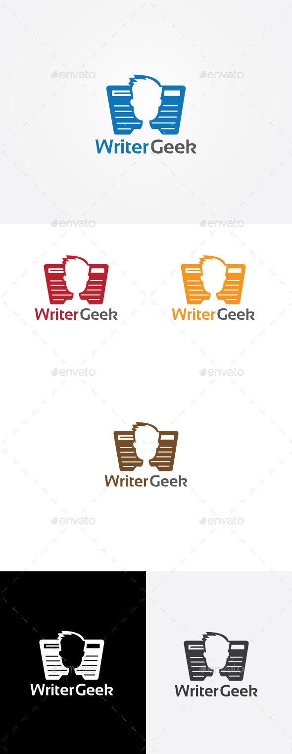 Writer Geek Logo - Humans Logo Templates