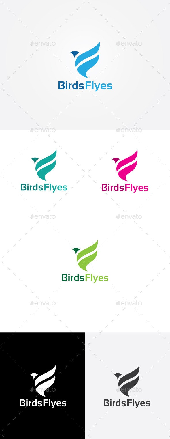 Bird Fly Logo - Animals Logo Templates