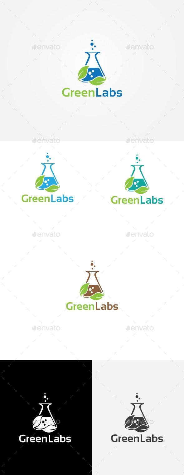 Green Lab Logo  - Objects Logo Templates