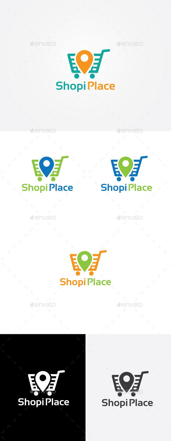 Shopping Locator Logo - Objects Logo Templates