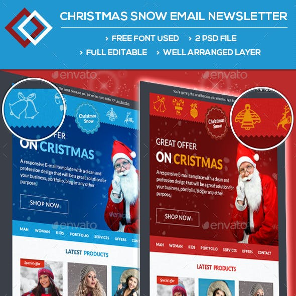 Christmas Snow Email Newsletter