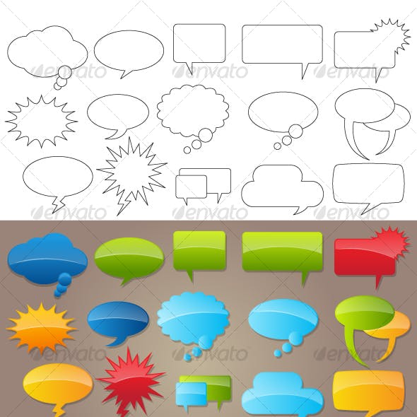 Comic speech Bubbles (Vector)