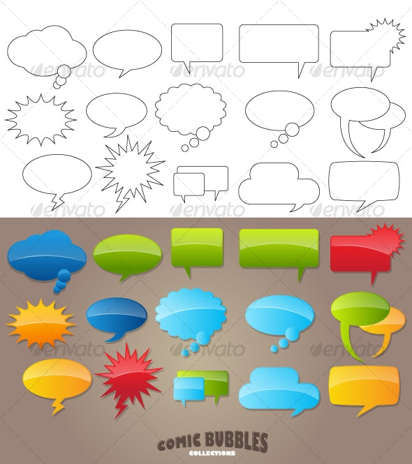 Comic speech Bubbles (Vector) - Miscellaneous Vectors