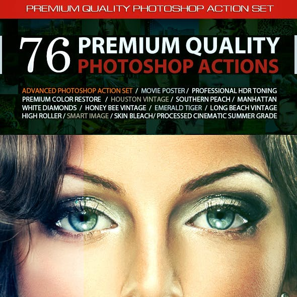 76 Premium Photoshop Actions