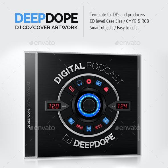 DeepDope - DJ Mix CD Cover Artwork PSD