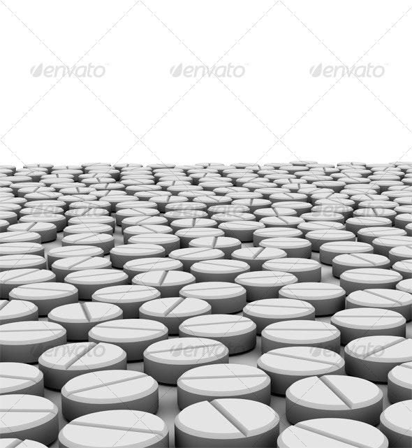 3D Pill Set - Objects 3D Renders