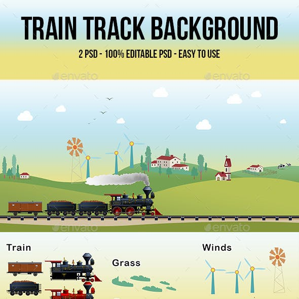 Train Track Background 01