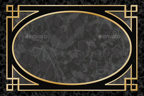 Marble Background with Frame, Border - Borders Decorative