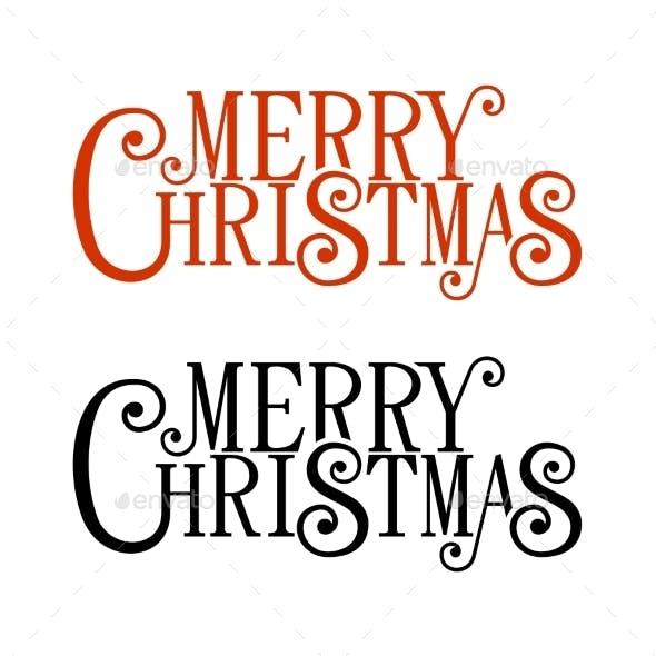 Merry Christmas Lettering for Greeting Card