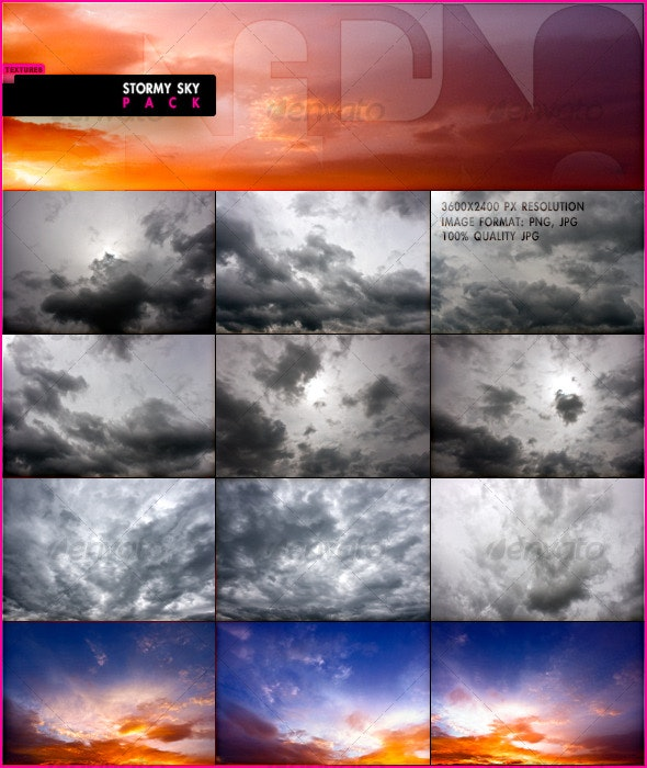 Stormy Sky Pack - Nature Textures