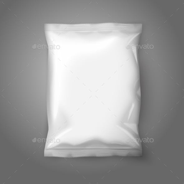 Blank White Realistic Foil Snack Pack