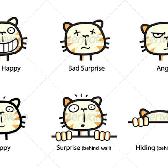The Cat - Emoticons Set