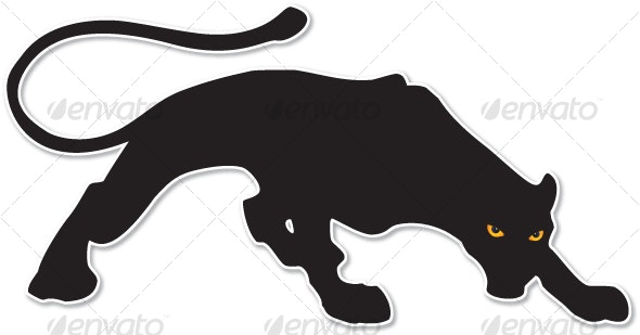 big black cat - Animals Characters