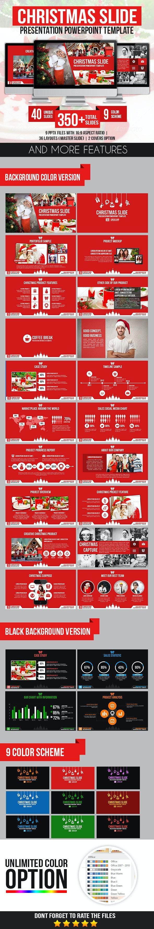 Christmas Slide Presentation PowerPoint Template - Business PowerPoint Templates