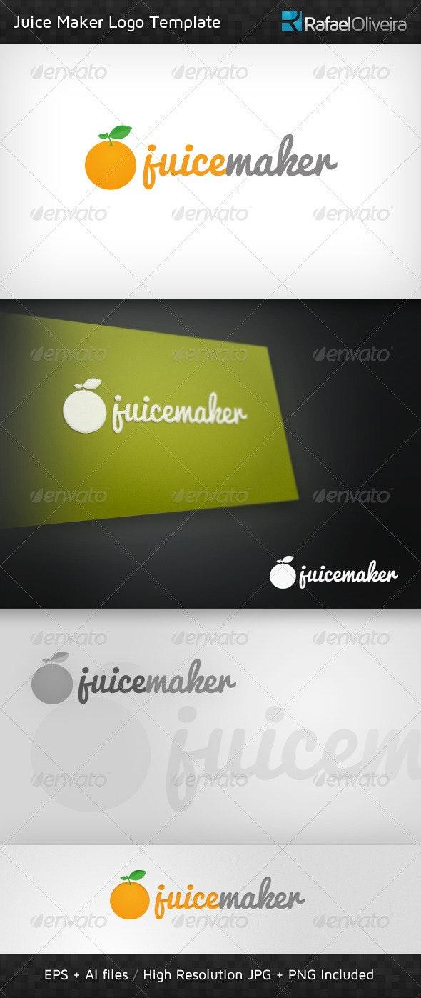 Juice Maker Logo Template - Nature Logo Templates