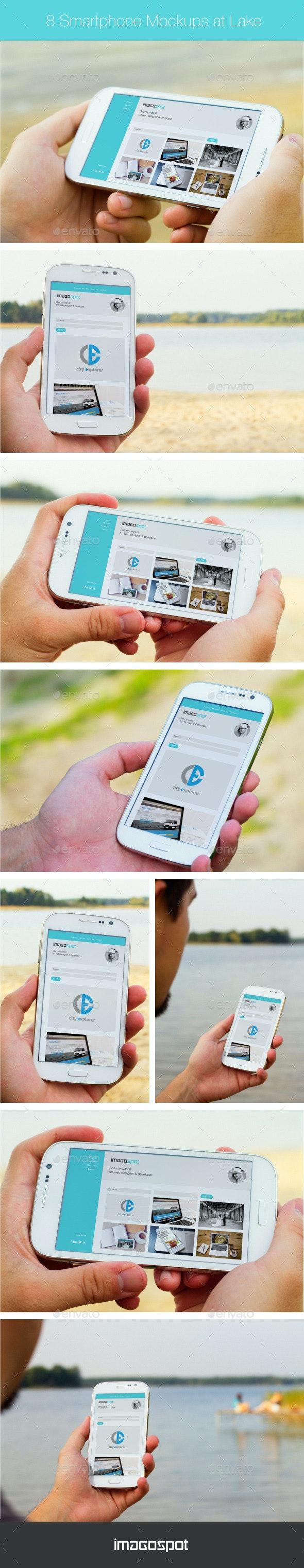 Realistic Outdoor Smartphone Mockups  - Mobile Displays