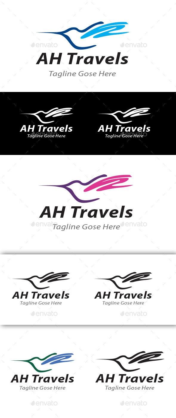 AH Travels Corporate Business logo - Symbols Logo Templates
