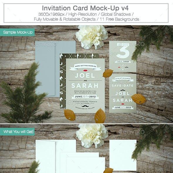 Invitation Card Mock-up v4