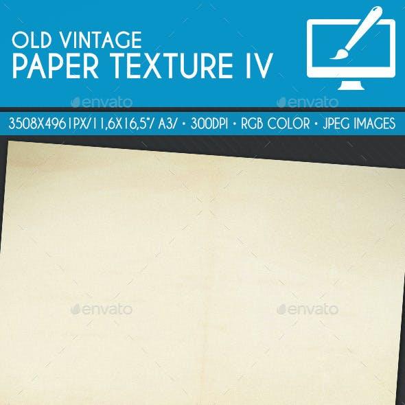 Old Vintage Paper Texture IV