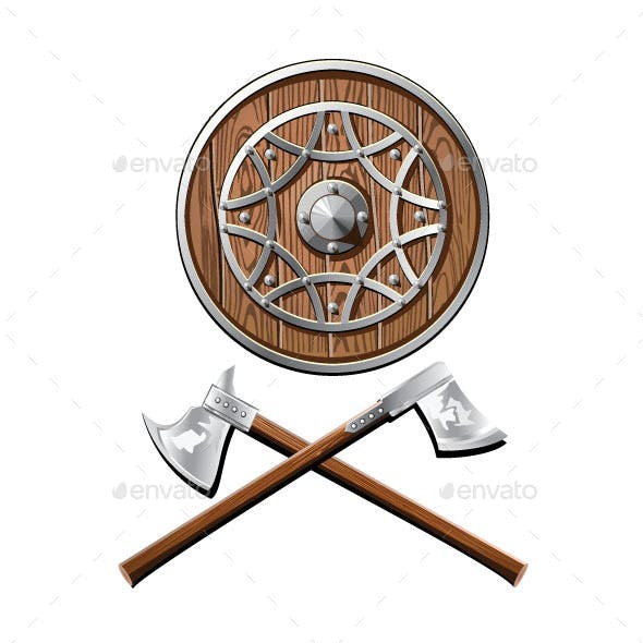 Battle Shield and Axes