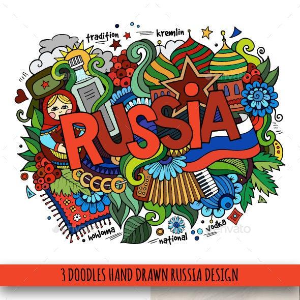 Russia Doodles Designs