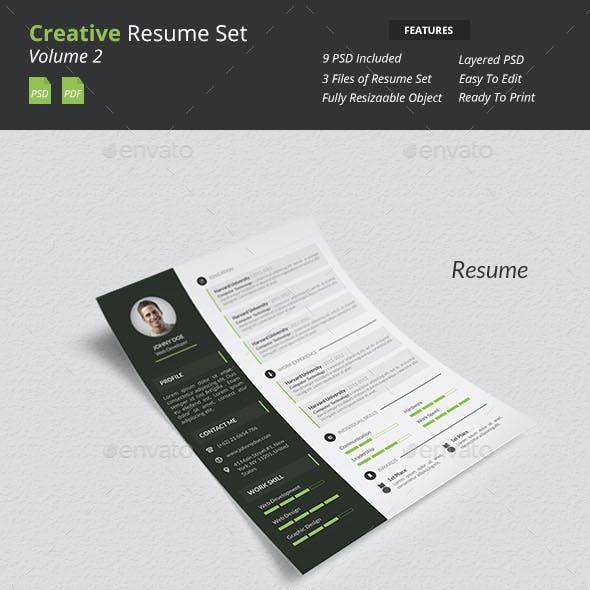 Creative Resume Set v2