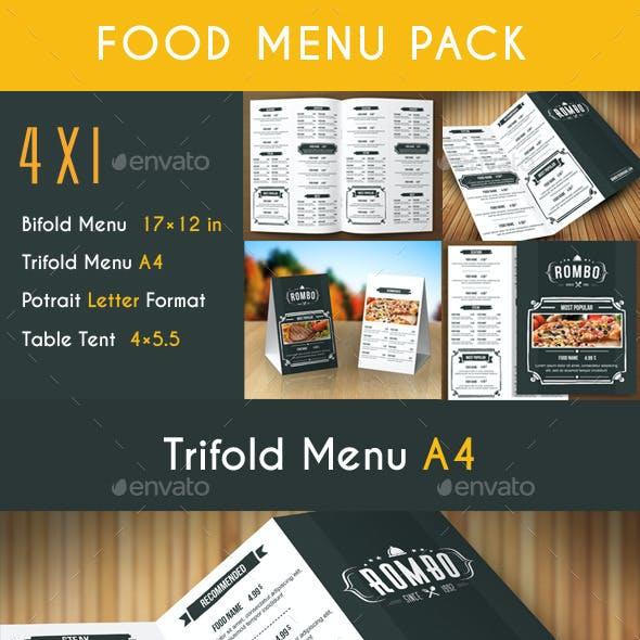 Retro Food Menu Pack