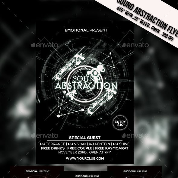 Sound Abstraction Flyer