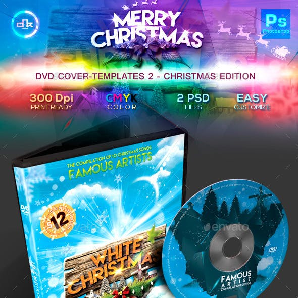 Christmas DVD Cover Template 2 (Snow Edition)