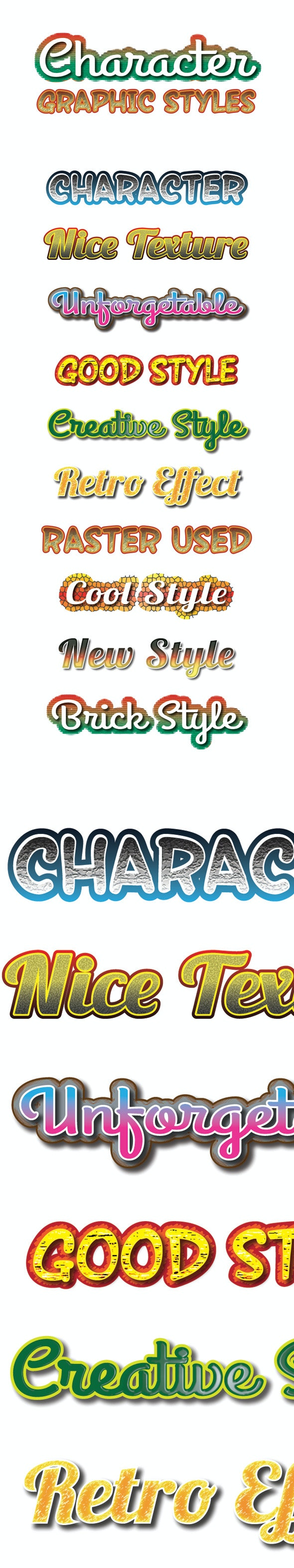 Character Graphic Styles for Ai