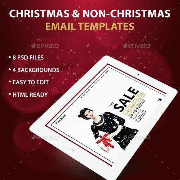 Shop'N'Joy - Holiday/Ecommerce PSD Email Template