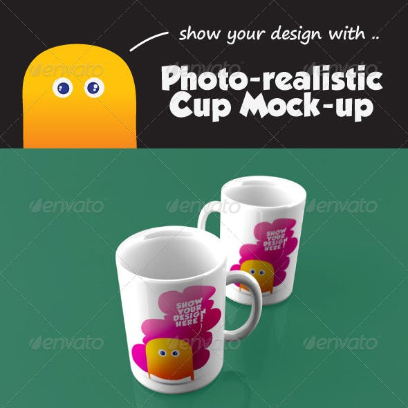 Photo-Realistic Cup Mock-Up