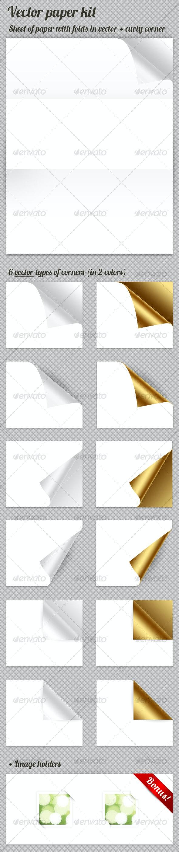 Vector Paper kit - Web Elements