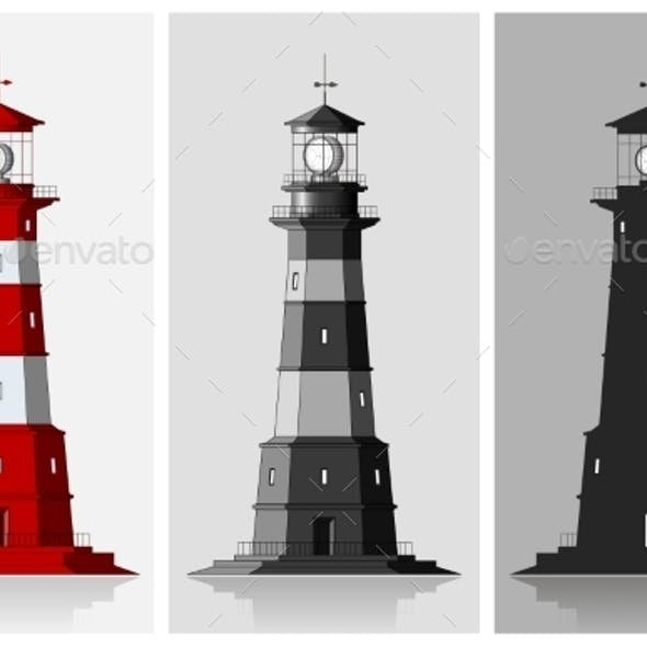Set of of Lighthouses