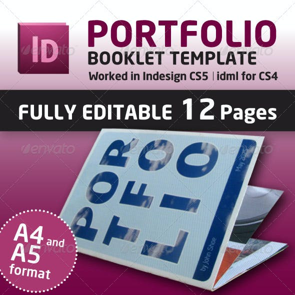 Portfolio Booklet A4 and A5 Format (12 Pages)