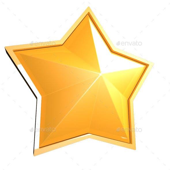 Sparkling Golden Star