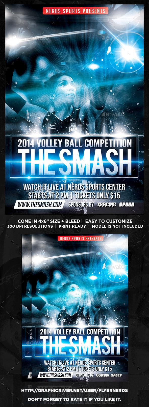 The Smash Volleyball Sports Flyer - Sports Events