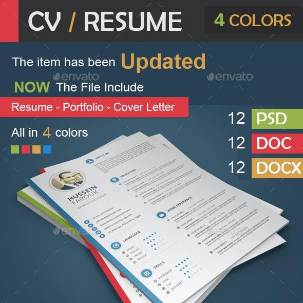 CV / Resume - Portfolio - Cover Letter