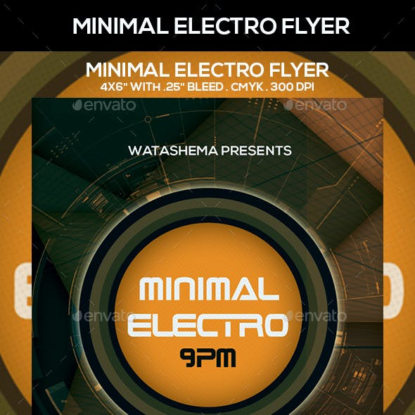 Minimal Electro Flyer