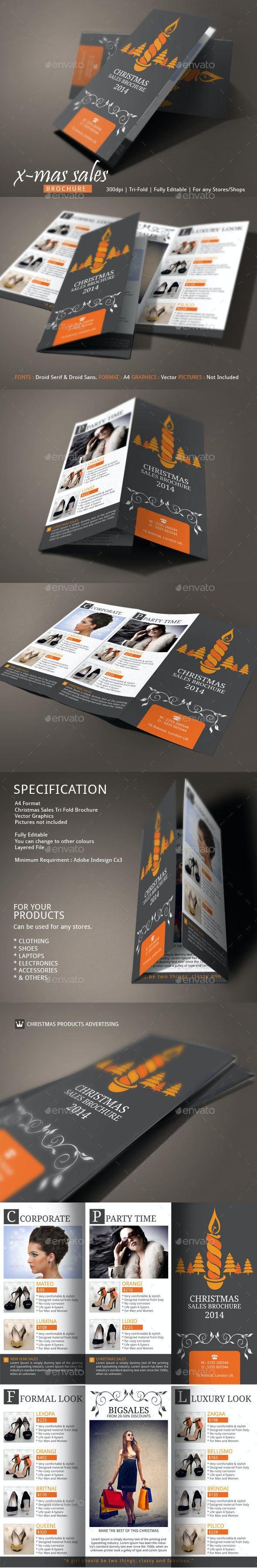 Christmas Sales Brochure Template - Catalogs Brochures