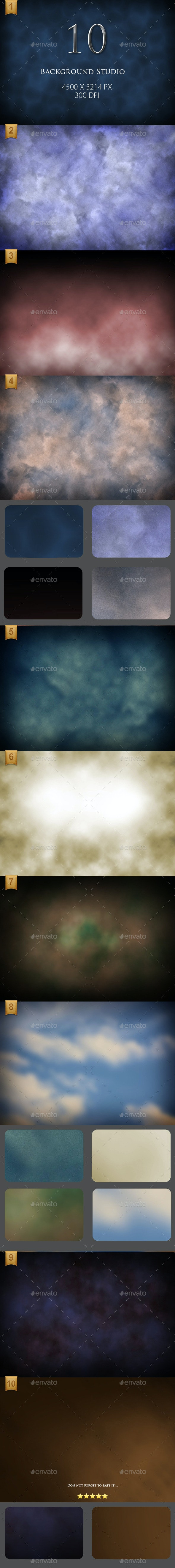 10 High Resolution Background Studio - Backgrounds Graphics