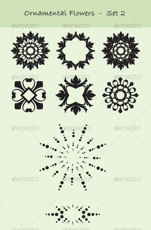 Ornamental flowers - set 2 - Miscellaneous Vectors