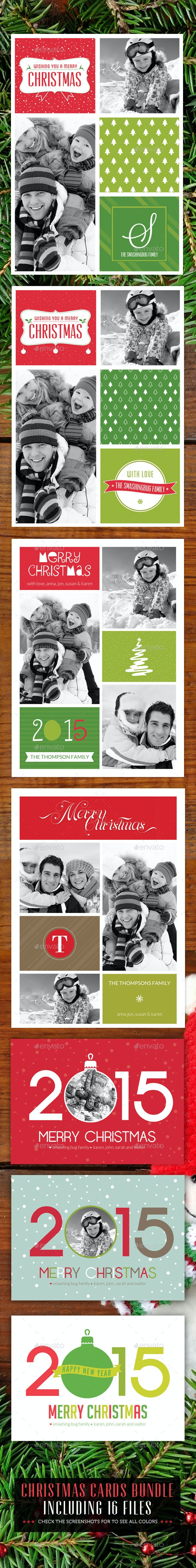 Christmas Cards Bunle v1 - Holiday Greeting Cards