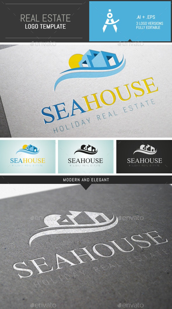 Elegant Holiday Real Estate Logo Template