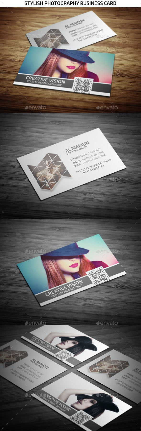 Stylish Photography Business Card - Creative Business Cards