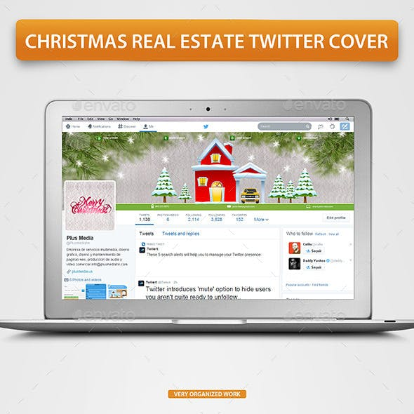 Christmas Real Estate Twitter Cover