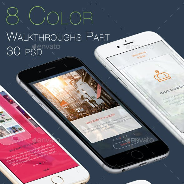 8 Color Walkthroughs Part - Mobile UI Kit